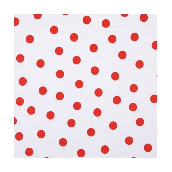 toile cirée red dots