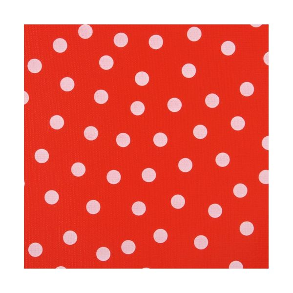 toile cirée red white dots