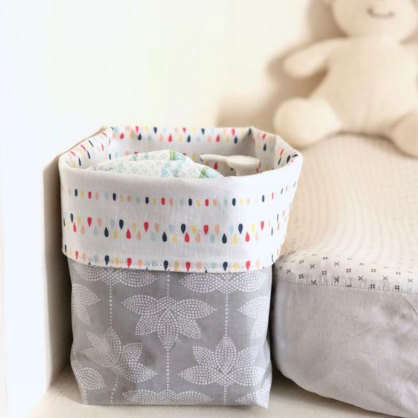 Panier en toile cirée/tissu