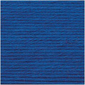 Pelote coton aran bleu royal