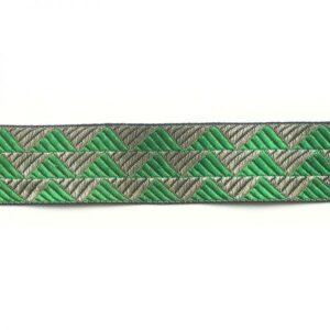 Ruban triangles vert et or