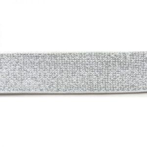 élastique blanc argent