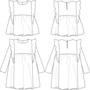 Blouse ou robe Stella de Ikatee - 3 -12 ans