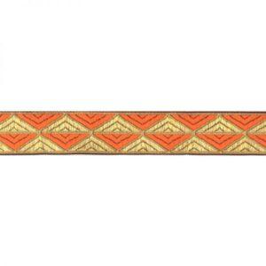 Ruban grand triangle or et orange