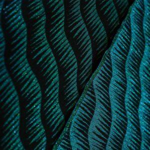 Tissu jacquard vague brillant