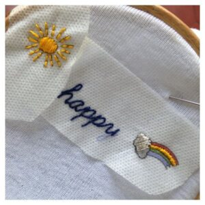 Kit broderie extra : happy
