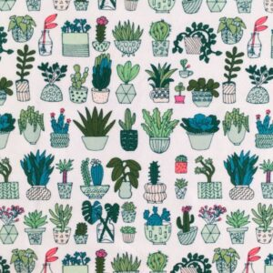 Tissu jersey cactus