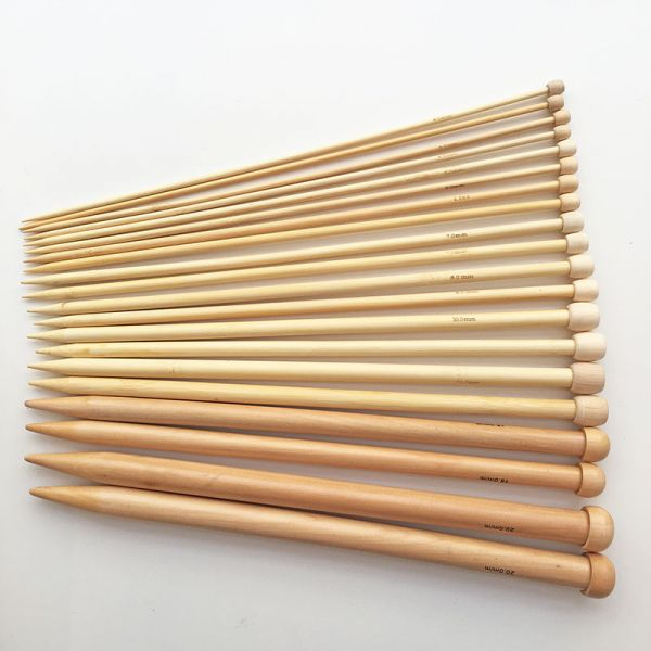 Aiguilles tricot bois 15mm