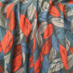 Tissu feuilles