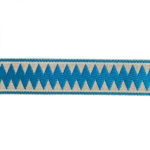 Ruban chevron bleu clair x10cm