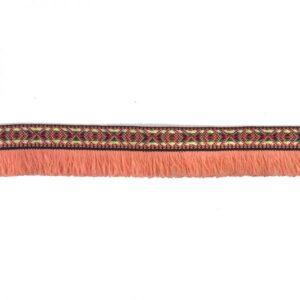 Ruban à franges saumon x10cm