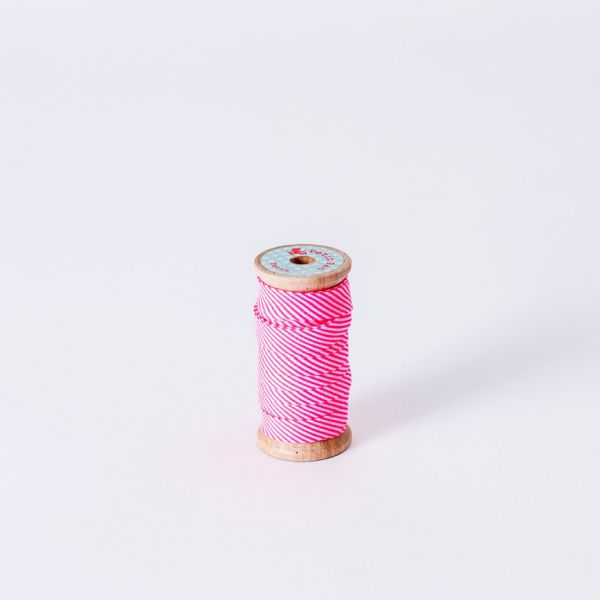 Bobine biais Petit Pan rigato rose