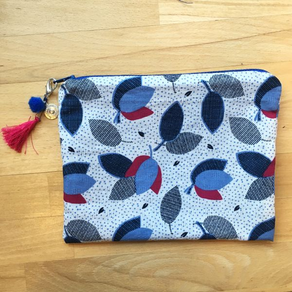 Kit couture : pochette doublée tissu