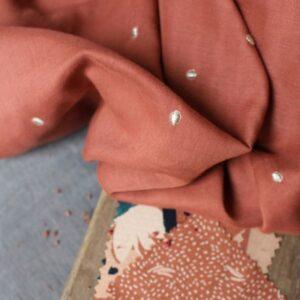 Tissu double gaze Stardust Chestnut - Atelier Brunette