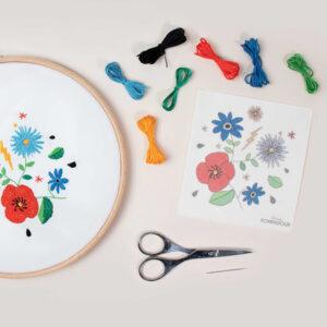 Kit easy Broderie Fleurs