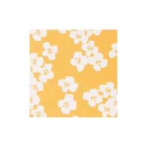 Tissu imperméabilisant fleurs moutarde
