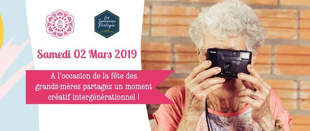 Les Souvenirs Partagés x Henry et Henriette : moment de partage créatif pour la Fête des Grand-Mères