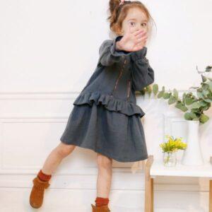 Blouse-top-robe lilas trio de Ikatee - 3 -12 ans