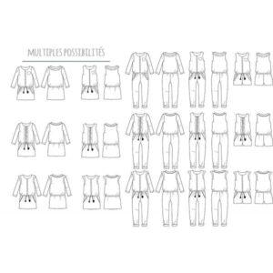 Trio blouse combinaison ou robe - Marieke - 3-12 ans