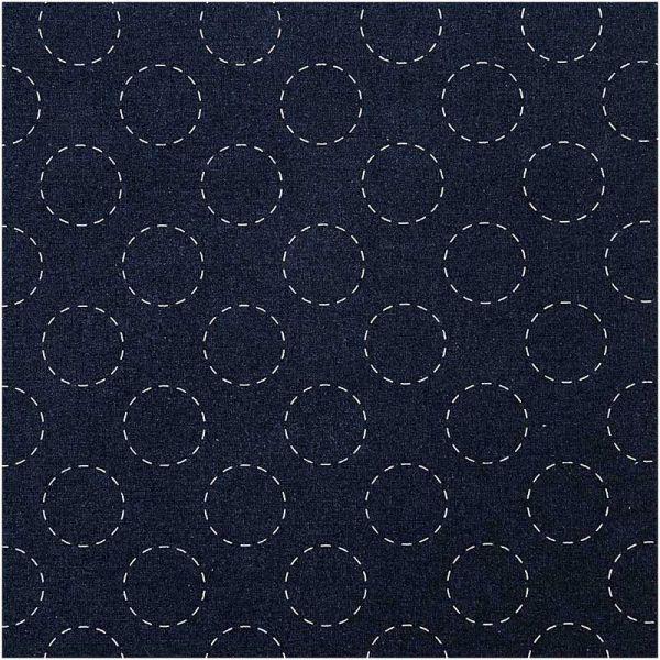 Tissu sashiko cercles