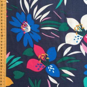 Tissu fleurs et vert d'eau
