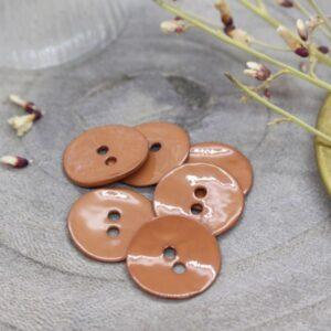 Bouton Glossy chestnut Atelier Brunette