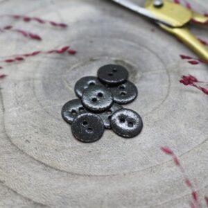Bouton Glitter black 12 mm Atelier Brunette
