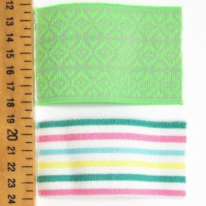 Élastique vert fluo-écru