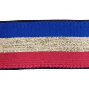 Élastique Bleu, blanc, rouge, lurex
