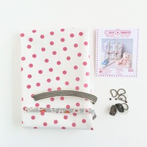 Kit cartable enfant lila