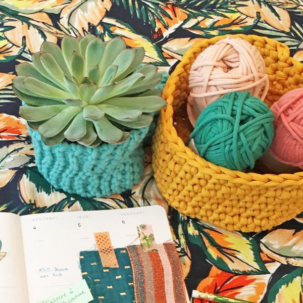 Corbeille trapilho | 25/09 | Atelier crochet