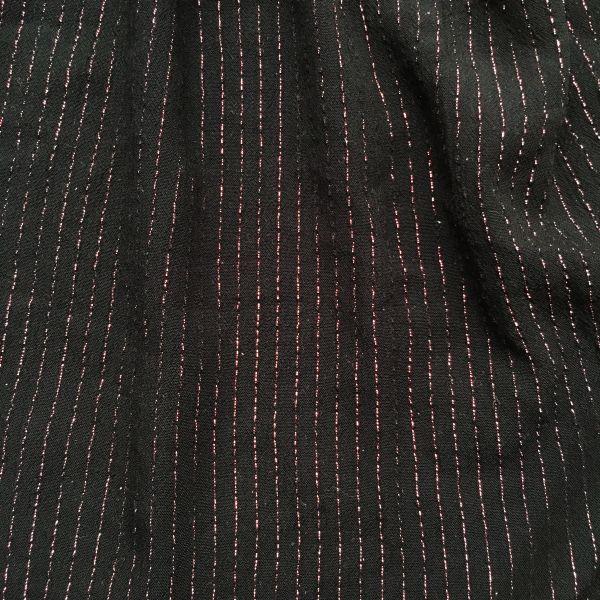 Tissu noir et lurex cuivré