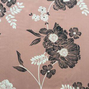 Tissu vieux rose fleuri