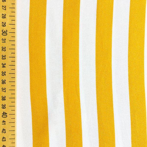 Tissu rayures jaunes et blanches
