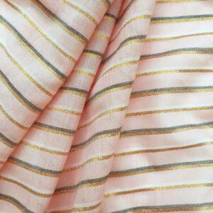 Tissu stripe copper