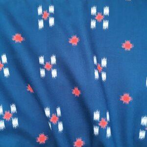 Tissu ikat bleu pétrole