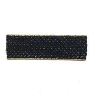 Élastique noir, lurex doré