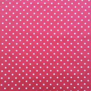 Tissu rose à pois