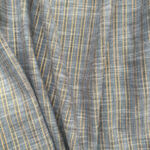Tissu rayé et lurex argenté