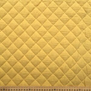 tissu double gaze gaufrée matelassée moutarde