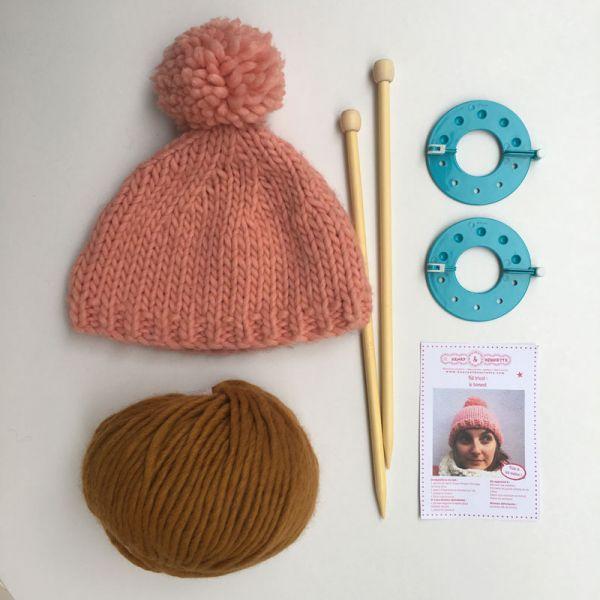Kit tricot : le bonnet camel