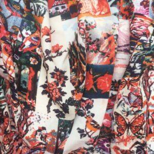 Tissu canevas vintage
