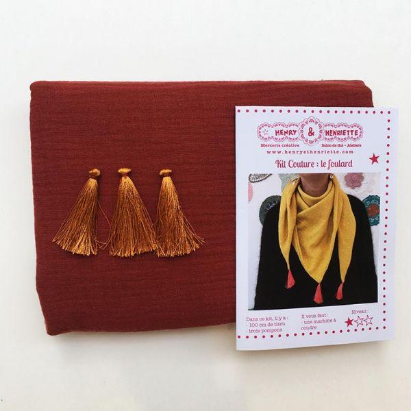 Kit couture : le foulard double gaze