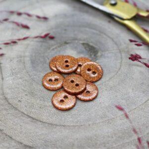 Bouton Glitter chestnut 12 mm Atelier Brunette
