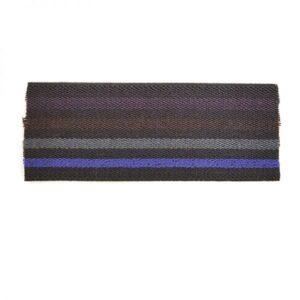 Élastique noir rayé violet gris et marron