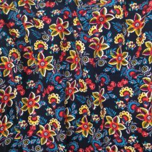 Tissu fougère fleurie
