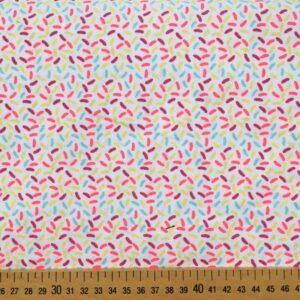 Tissu confettis fluos