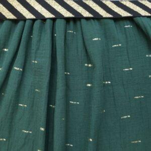Kit jupe longue tomette pois or et joli élastique rose et lurex