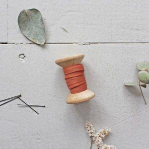 Biais crêpe ocre - Atelier Brunette