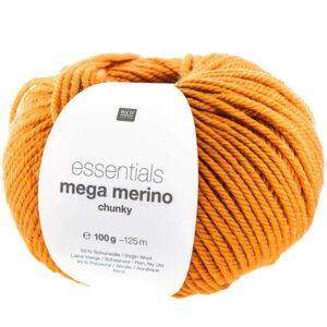 Pelote mega wool chunky orange